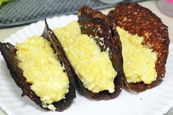Кето-тако на завтрак