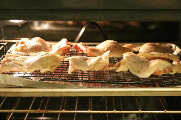 Кето-запеканка с курицей Баффало