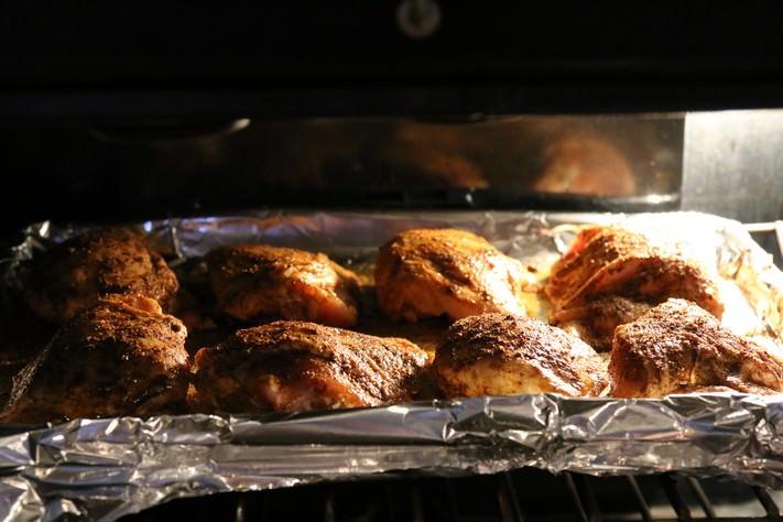 Хрустящие куриные бедра карри