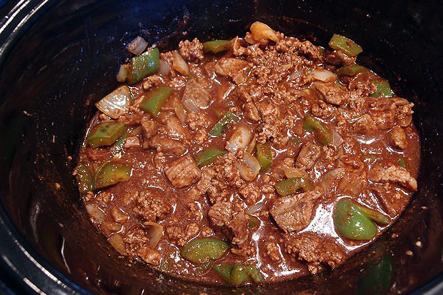 Чили с говядиной и овощами