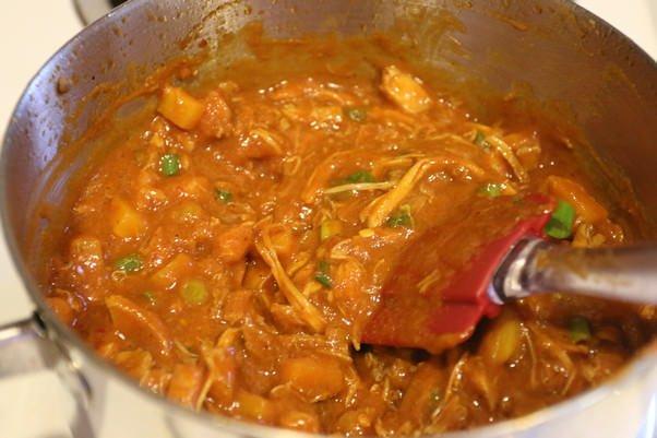 Куриный суп с соусом барбекю