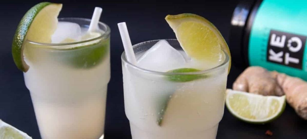 Пряный напиток с имбирем и лаймом