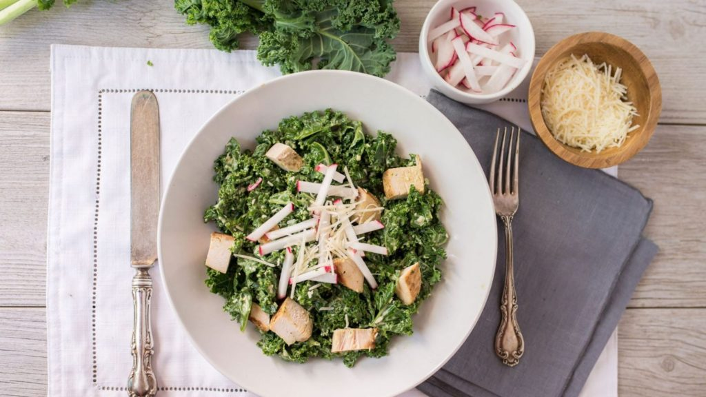 Кето-салат Цезарь