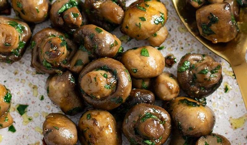 Низкоуглеводные чесночные грибы