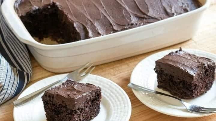 Низкоуглеводный шоколадный торт с цуккини