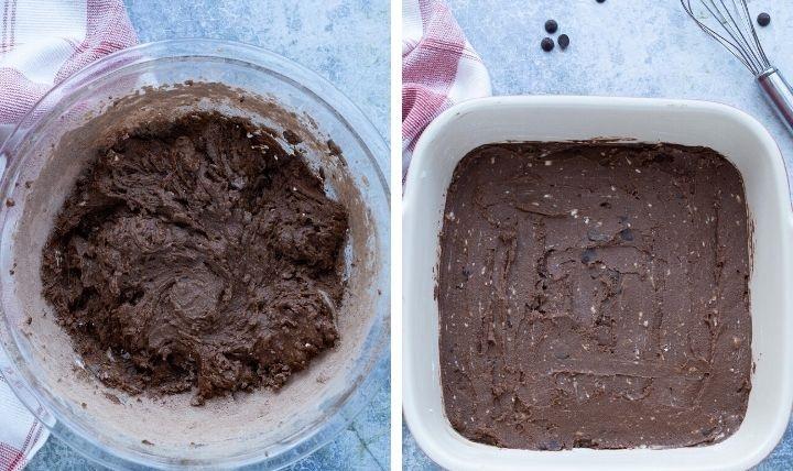 Шоколадный брауни из кокосовой муки