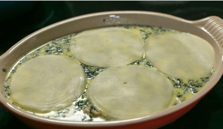 Запеканка из тунца со шпинатом