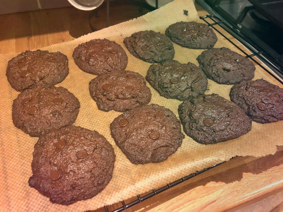 Шоколадно кофейное печенье