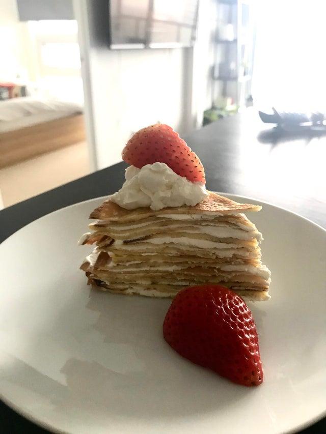 Кето блинный торт Наполеон