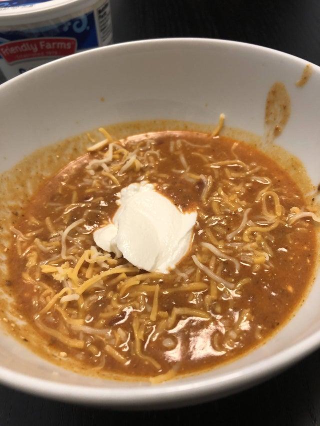 Сливочно-сырный суп тако