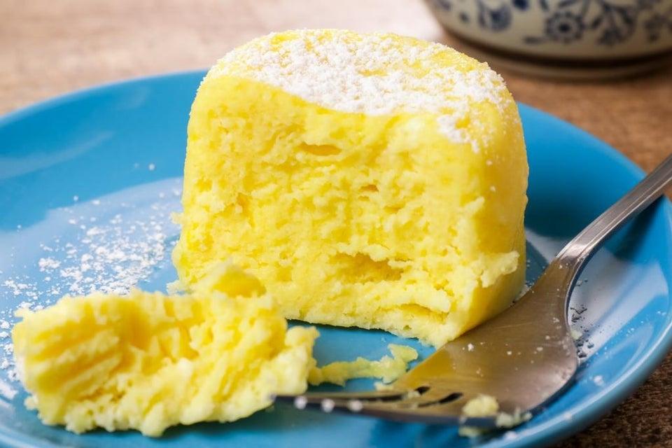 Лимонный чизкейк в микроволновке