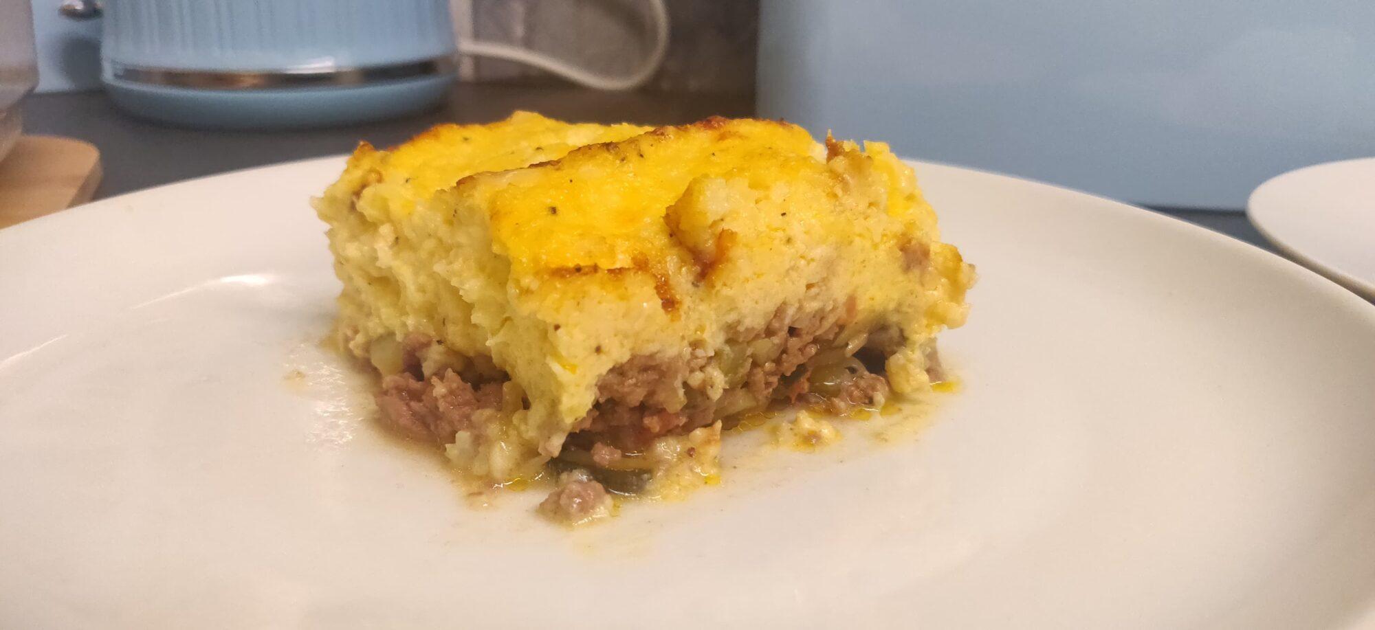 Пастуший пирог с цветной капустой
