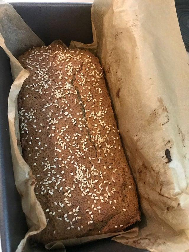 Кето-хлеб из кокосовой муки