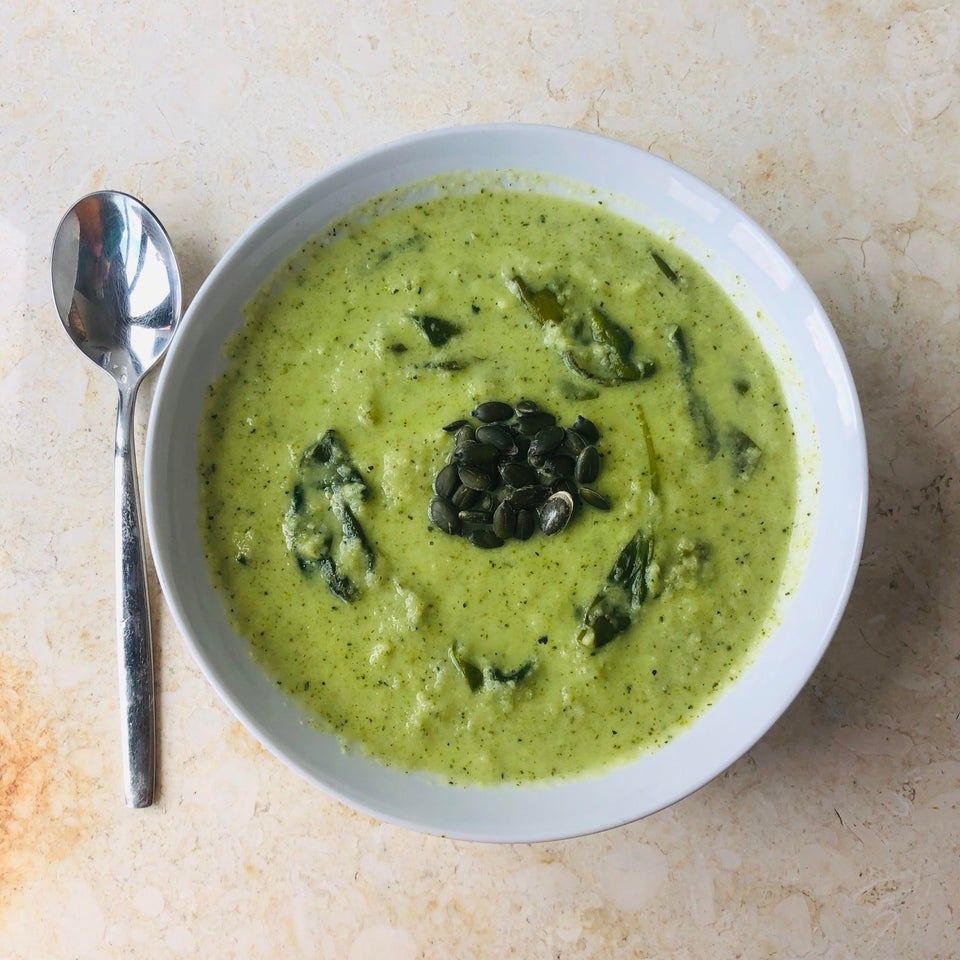 Зеленый кето-суп