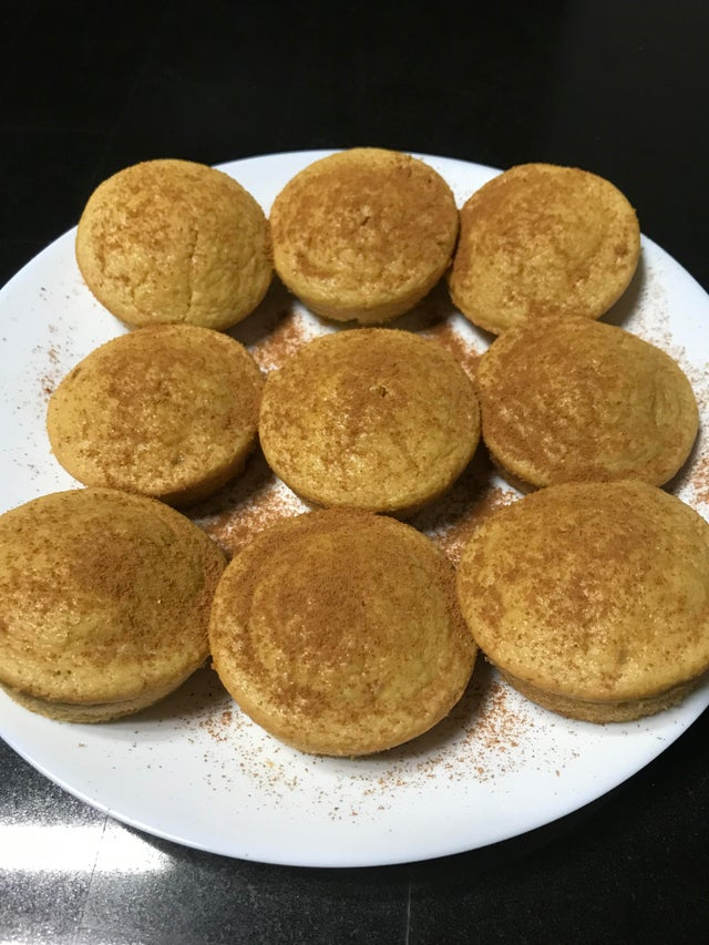 Миндальные кето-кексы с корицей