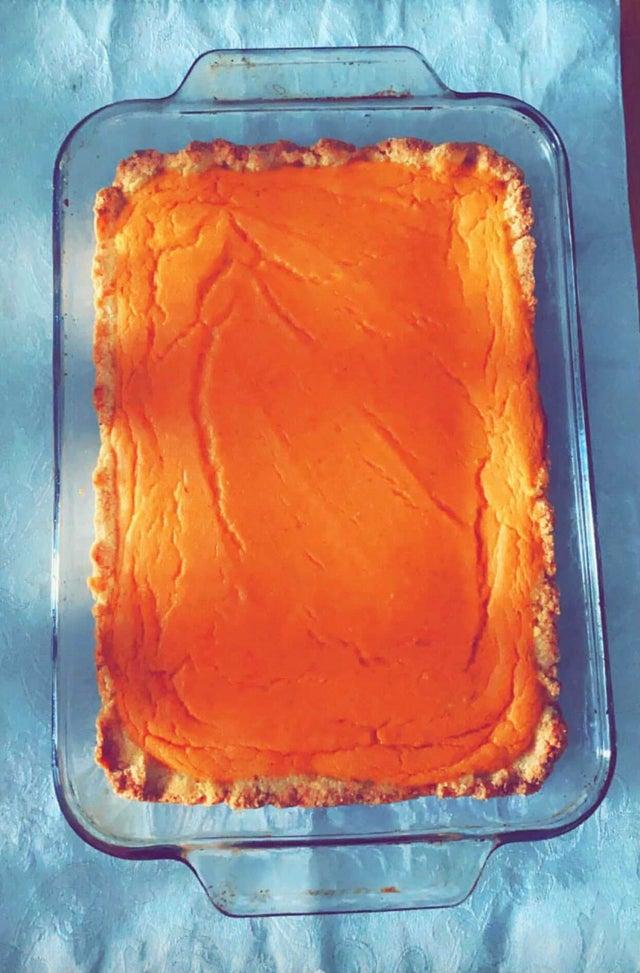 Тыквенный масляный кето-торт