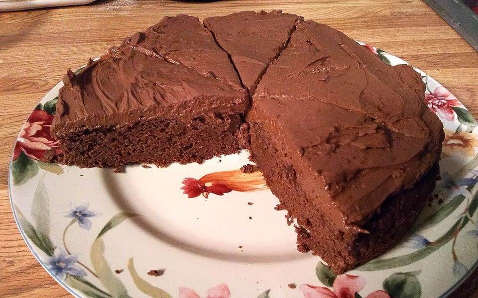 Очень шоколадный кето-торт