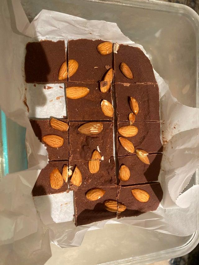 Шоколадно-ореховые кето конфеты